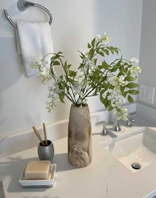 Bathroom-sink-and-plant